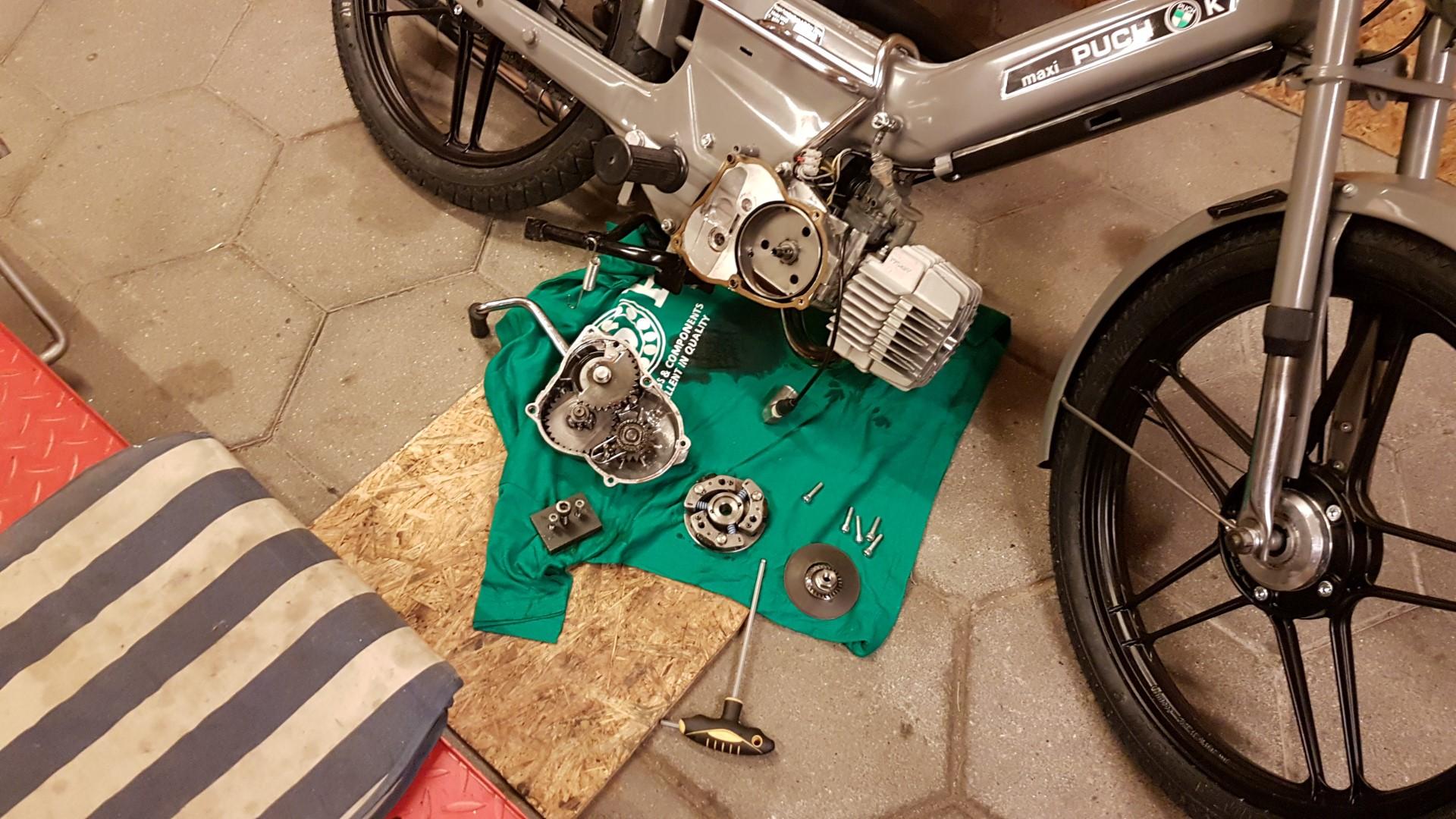 Puch Maxi E50 clutch tuning – 12V dk – Carsten Lorenzen